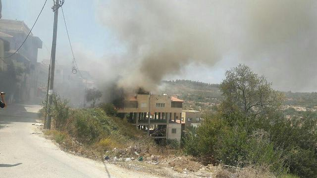 The site of the crash (Photo: United Hatzalah)