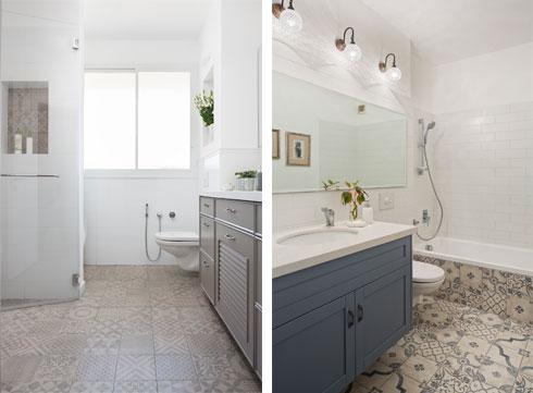 מקלחון רחב ידיים בחדר הרחצה (צילום: שי אפשטיין)