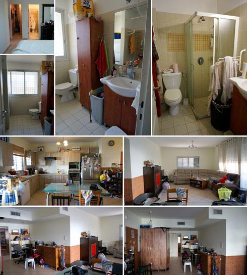 הדירה לפני השיפוץ (צילום: שירי בלום לאודן)