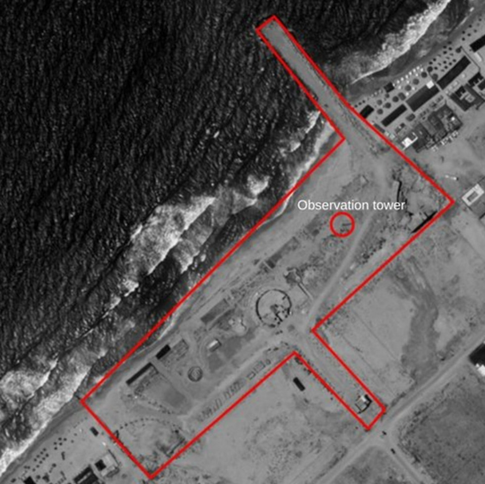 Aerial photograph of Hamas port (Photo: IDF Spokesperson's Unit) (Photo: IDF Spokesperson's Unit)