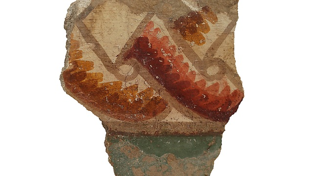 Fresco from Zippori (Photo: G. Laron) (Photo: G. Laron)