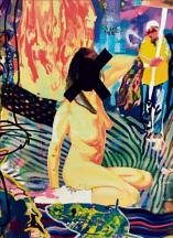ציור המריבה עם האיקס על פניה של שקד