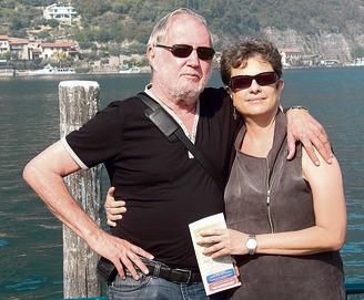 """עם בן הזוג שנפטר, רוני פיינשטיין. """"אני חיה בצל מותו"""""""