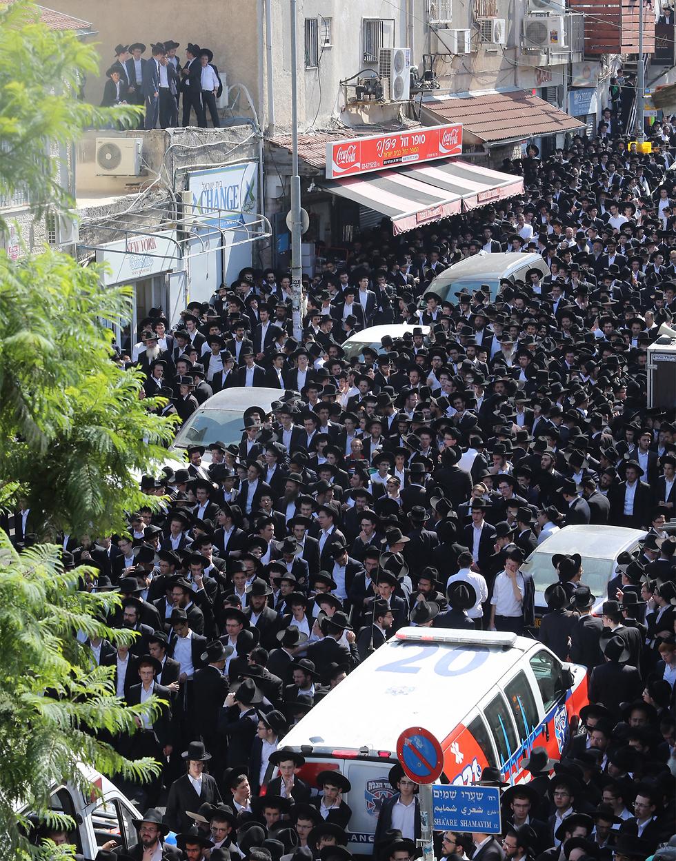 ההלוויה בירושלים (צילום: גיל יוחנן) (צילום: גיל יוחנן)