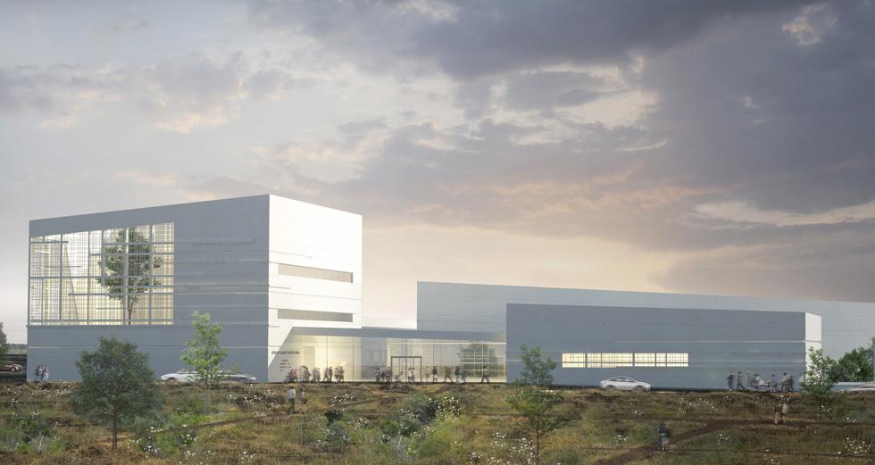 """מקום שני: ההצעה של פרי דוידוביץ אדריכלים. """"נכון לפתוח את התכנון בתחרות פתוחה, לקבל רעיונות מגוונים ולבחור מתוכם"""" (הדמיה: אגף ההנדסה והבינוי במשרד הביטחון)"""