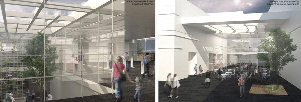 מקום שני: ההצעה של פרי דוידוביץ אדריכלים (הדמיה: אגף ההנדסה והבינוי במשרד הביטחון)