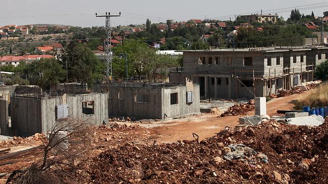 בנייה בעופרה (צילום: עמית שאבי) (צילום: עמית שאבי)