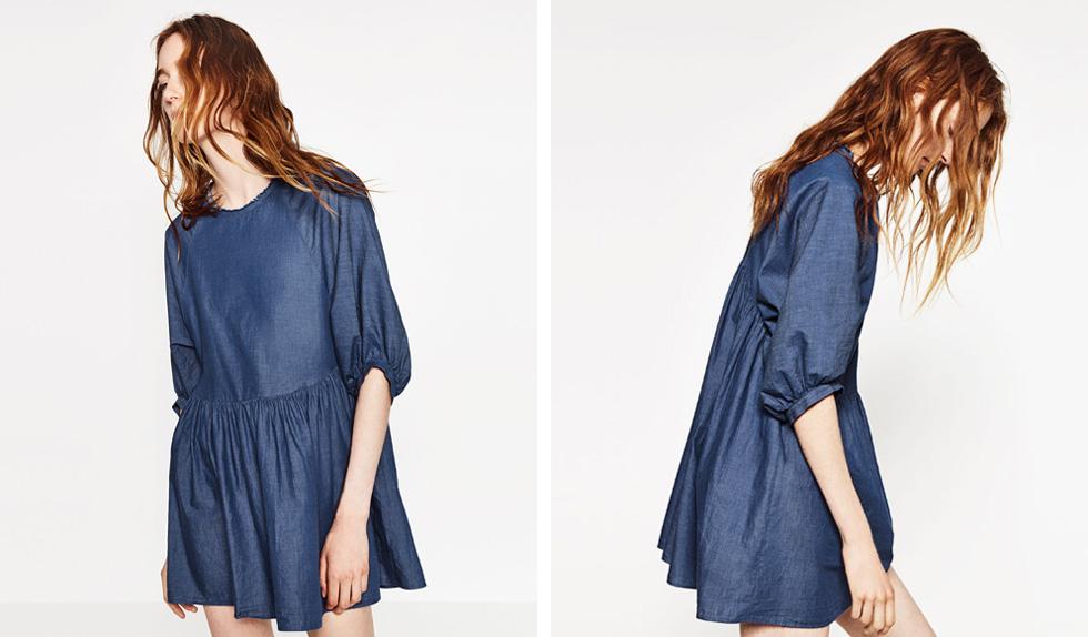 השמלה של זארה עם התגית הכפולה. המחיר בישראל: 269 שקל. המחיר באירופה: כ-170 שקל (צילום: מתוך אתר זארה)