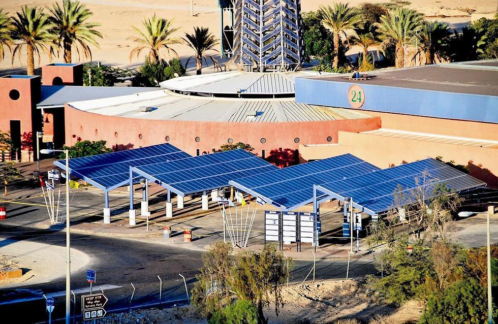 Solar panels at Kibbutz Yotvata in the Arava (Photo: Courtesy)