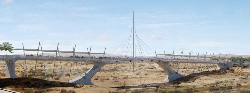 ההצעה של ניר בן נתן אדריכלים, שלא זכתה בתחרות. 7 משרדי אדריכלות הוזמנו להשתתף בה, וחמישה מהם הגישו הצעות (הדמיה: THE VISUALISER)