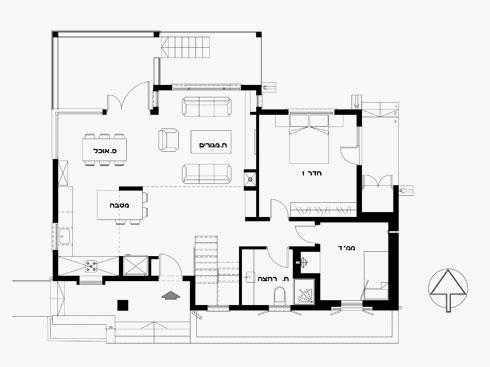 התוכנית המחודשת של הקומה הראשונה (תוכניות: מיכל שלגי)