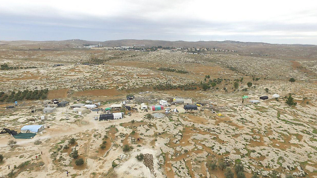 The village of Susya (Photo: Regavim)