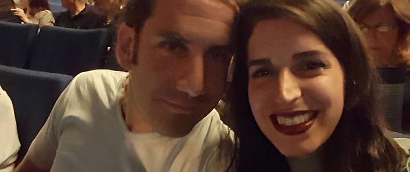קרן ובן הזוג (צילום: אוסף משפחתי) (צילום: אוסף משפחתי)