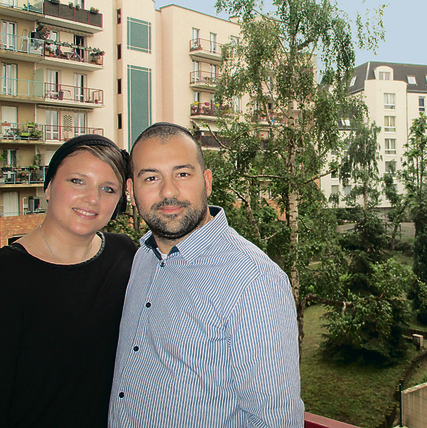 Yael and Yohan Sahal at their home in Paris (Photo: Tal Shahar)