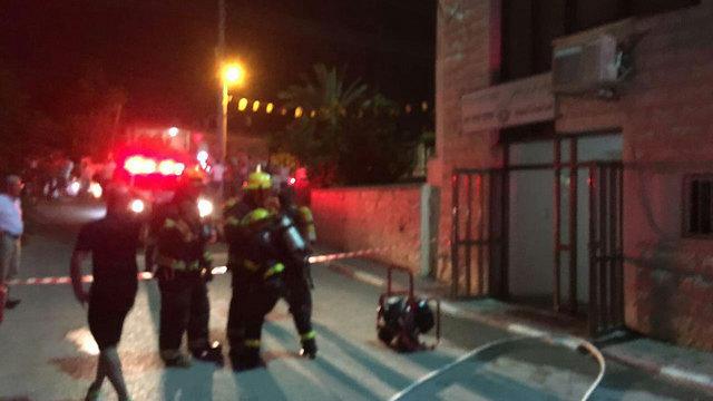 שריפה במשרדי הרווחה במועצה המקומית (צילום: כיבוי והצלה תחנת חדרה) (צילום: כיבוי והצלה תחנת חדרה)