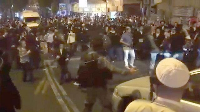 המהומות בחמישי בערב (צילום: הערשי פרלמוטר חדשות 24) (צילום: הערשי פרלמוטר חדשות 24)