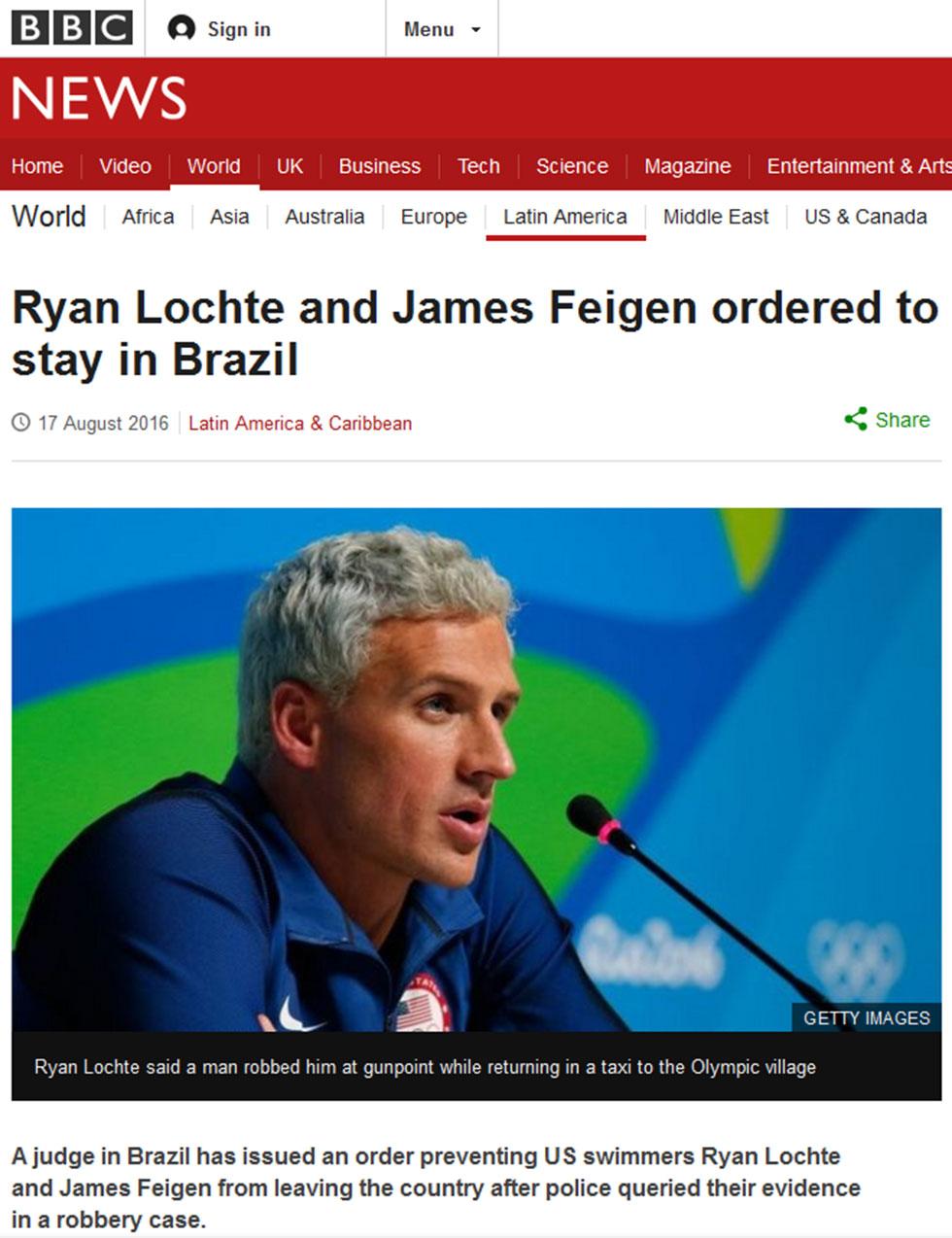 הדיווח ב-BBC על פרשת לוכטה ()