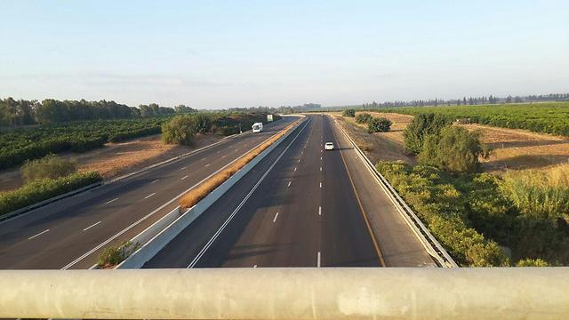 כביש 6 - עד צומת שוקת (צילום: רענן בן צור) (צילום: רענן בן צור)