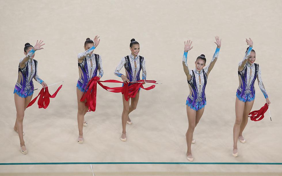 מתעמלות הנבחרת הקודמת באולימפיאדת ריו. הסערה העיבה על ההכנות (ציום: אורן אהרוני) (ציום: אורן אהרוני)