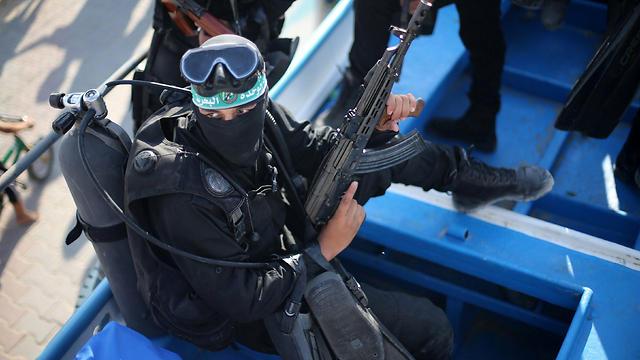 לוחם קומנדו ימי של חמאס (צילום: רויטרס)