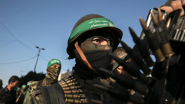מחבלי חמאס בעזה. ארכיון  (צילום: AFP) (צילום: AFP)