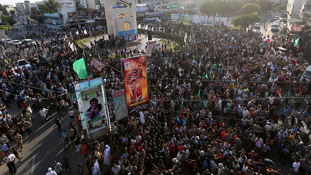 Hamas supporters in Rafah, Gaza (Photo: Reuters) (Photo: Reuters)