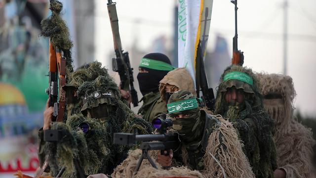 פירוק מנשק לא על הפרק. הזרוע הצבאית של חמאס (צילום: AP) (צילום: AP)