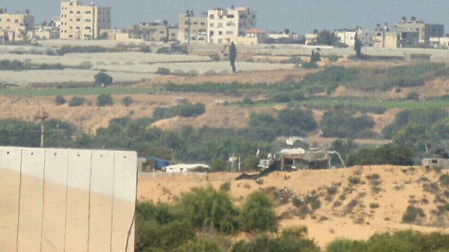 Hamas position destroyed in response to Hamas rocket fire (Photo: Roee Idan)