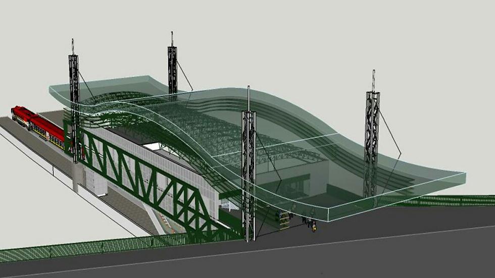 הדמיית שדרוג התחנה (צילום: ערי גושן אדריכלים) (צילום: ערי גושן אדריכלים)