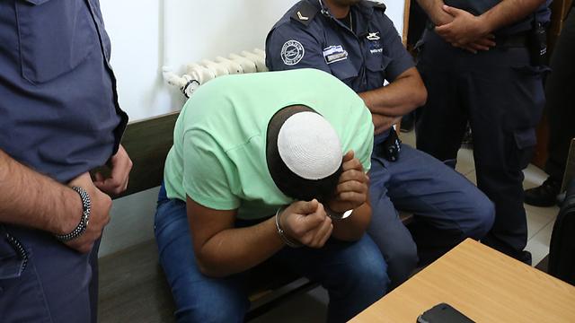הנאשם בבית המשפט (צילום: עמית שאבי) (צילום: עמית שאבי)