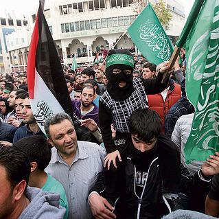 הפגנה של חמאס בחברון. איום ישיר