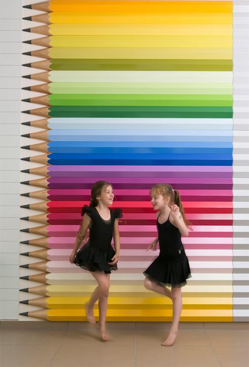 את בית הספר לאמנויות ברמת חן היא עיצבה, לדבריה, בתקציב נמוך בהרבה ונאלצה להתפשר (צלם: שירן כרמל)