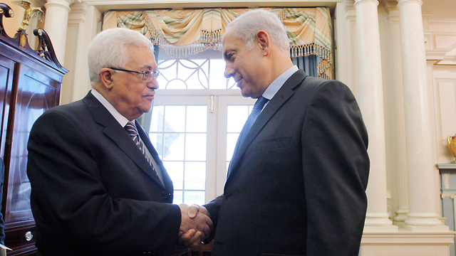 Prime Minister Benjamin Netanyahu and Palestinian President Mahmoud Abbas in September 2010 in Washington (Photo: Gettyimages)