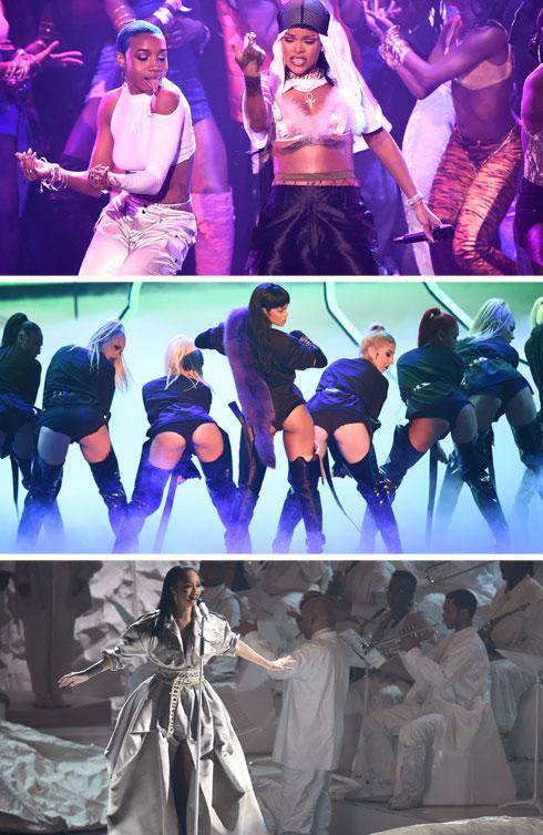 הופעות מוחצות בתלבושות שונות. ריהאנה (צילום: Gettyimages)