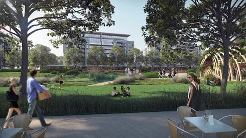 הפארק החדש של צפון תל אביב: לחצו לכתבה המלאה (הדמיה: סטודיו ארבנוף ו-HAGEN ZOHAR ARKITEKTEN)