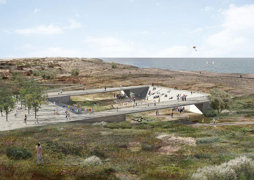 ההצעה מדגישה את האופי הטבעי והאקולוגי של השטח, תוך שימור ושיקום שלו. שלושת צירי התנועה בפארק יעודדו הליכה, רכיבה ופעילויות חווייתיות (הדמיה: סטודיו ארבנוף ו-HAGEN ZOHAR ARKITEKTEN)