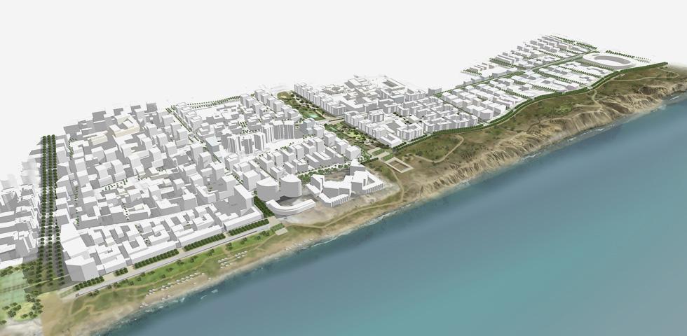 תוכנית צפון-מערב ת''א עומדת להוסיף שטח בנוי ענקי, עם כ-12 אלף יחידות דיור, 1,500 חדרי מלון וכ-200 אלף מ''ר שטחי מסחר (הדמיה: סטודיו ארבנוף ו-HAGEN ZOHAR ARKITEKTEN)