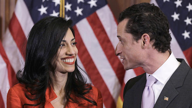 Weiner and his soon-to-be ex-wife Huma Abedin, a Hillary Clinton aide (Photo: AP) (Photo: AP)
