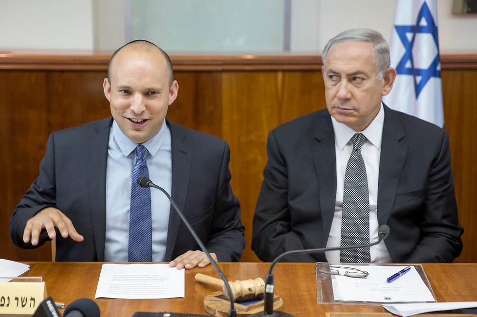 Bennett and Netanyahu (Photo: Amil Salman)