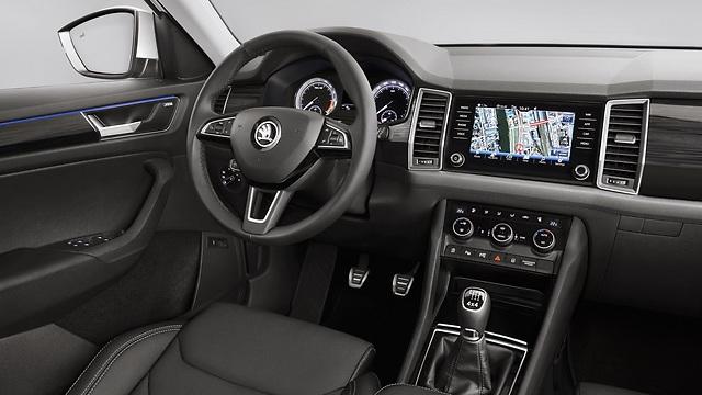 סביבת הנהג בסקודה קודיאק החדש ()