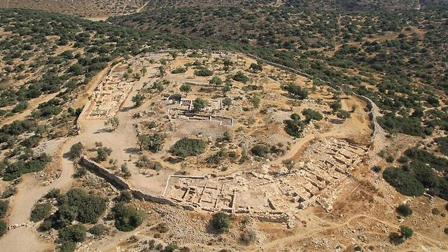 Khirbet Qeiyafa. 'If there was a battle, this is where it took place' (Photo courtesy of the Bible Lands Museum)