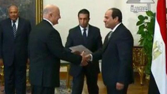 השגריר גוברין ונשיא מצרים א-סיסי בקיץ האחרון ()