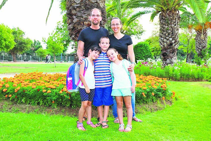 משפחת זיו־אב (צילום: דימה דורף)