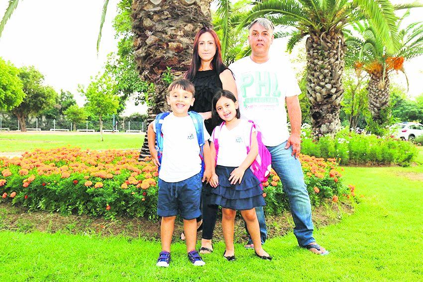משפחת עמר (צילום: דימה דורף)