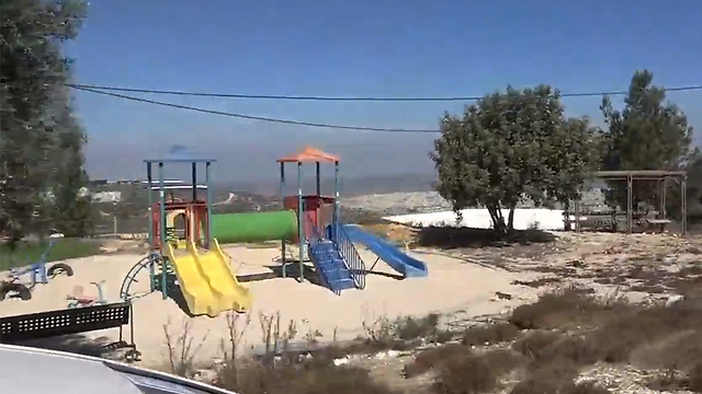 A children's playground in the Way of the Patriarchs outpost
