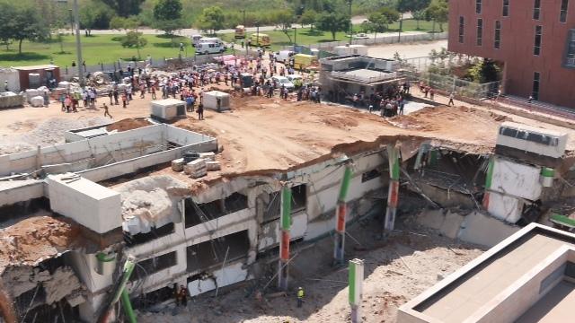 אתר הבנייה לאחר הקריסה, היום (צילום: דנה קופל) (צילום: דנה קופל)