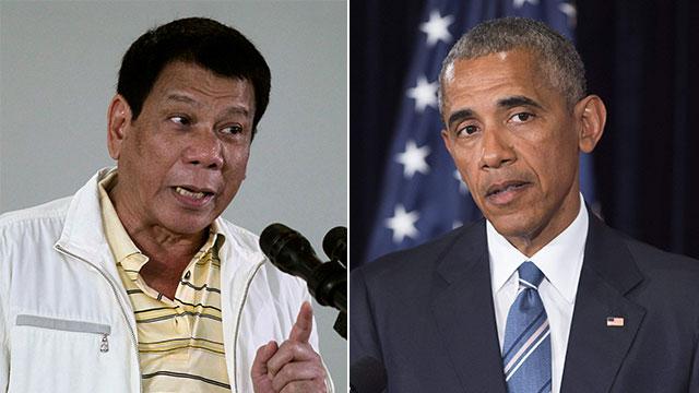 """קרא לאובמה """"בן זונה"""". נשיאי ארה""""ב והפיליפינים (צילום: AFP, רויטרס)"""