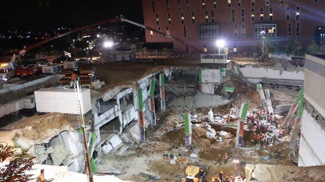 The building collapse site (Photo: Dana Koppel)