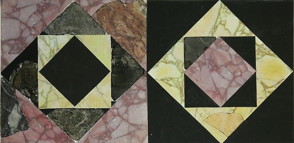 שתי רצפות מתוך השבע ששוחזרו (צילום: פרויקט סינון הר הבית (צחי דבירה))