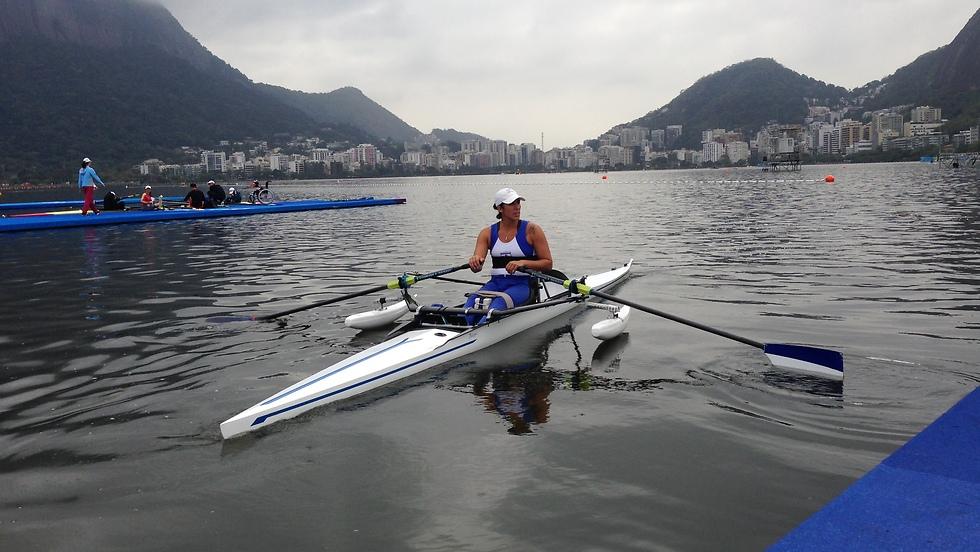 מורן סמואל באימונים בריו (צילום: מרכז דניאל לחתירה) (צילום: מרכז דניאל לחתירה)